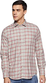 blackberrys Men's Checkered Slim Fit Casual Shirt