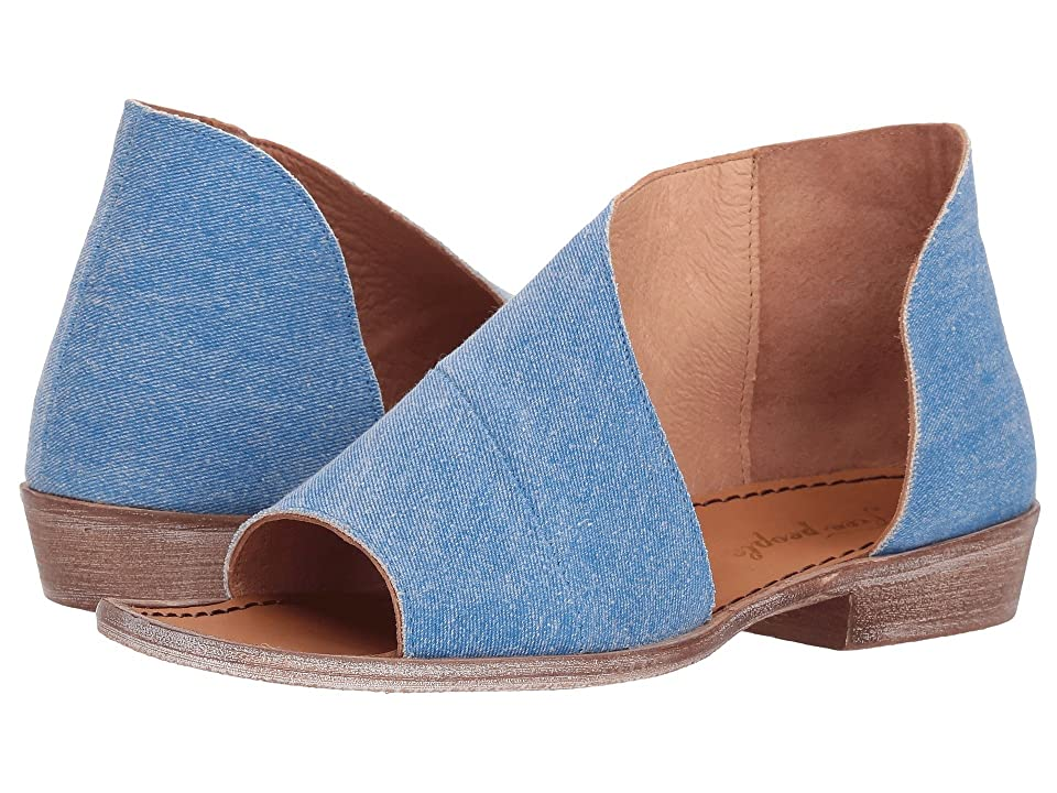 Free People Denim Mont Blanc Sandal (Washed Denim) Women