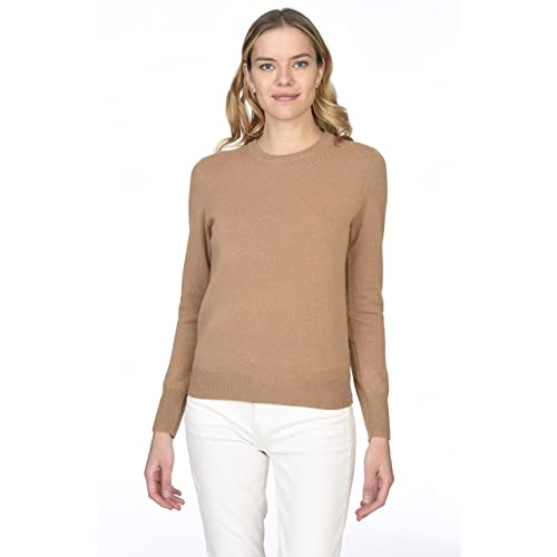 807dfaa6d7 State Cashmere Women s 100% Pure Cashmere Long Sleeve Pullover Crew Neck  Sweater