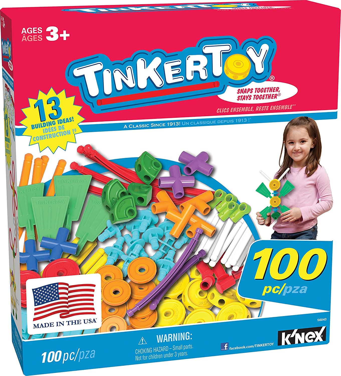 Special price for a limited time TINKERTOY ‒ 100 Piece Essentials Max 55% OFF Set Value P Ages 3+