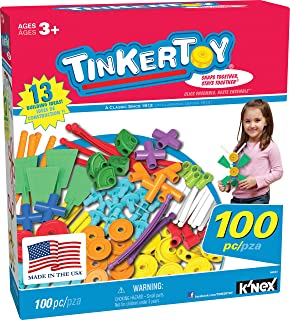 TINKERTOY ‒ 100 Piece Essentials Value Set ‒ Ages 3+ Preschool Education Toy
