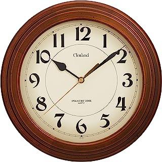 さんてる アンティーク 電波 掛け時計 日本製 ブラウン DQL611