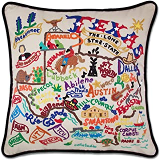 Catstudio Texas Embroidered Decorative Throw Pillow | Beautiful Award Winning Home Decor Artwork | Great for The Living, Family, Bed Rooms