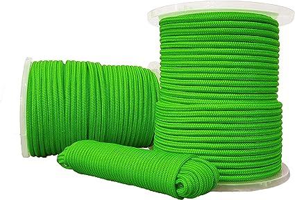 Tauwerk Geflochtenes Seil 6mm Polypropylen Kern 25m Grün