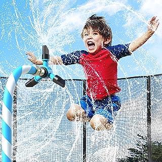 JASSIVER Trampoline Sprinkler for Kids - Backyard Water Park Sprinkler for Trampoline, 360° Rotation Outdoor Water Play Sp...