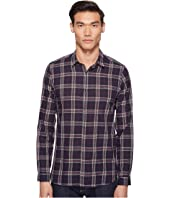 The Kooples - Flourescent Cotton Melange Plaid Shirt
