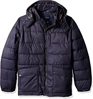 Men's Big and Tall Brushed Hooded Puffer Parka