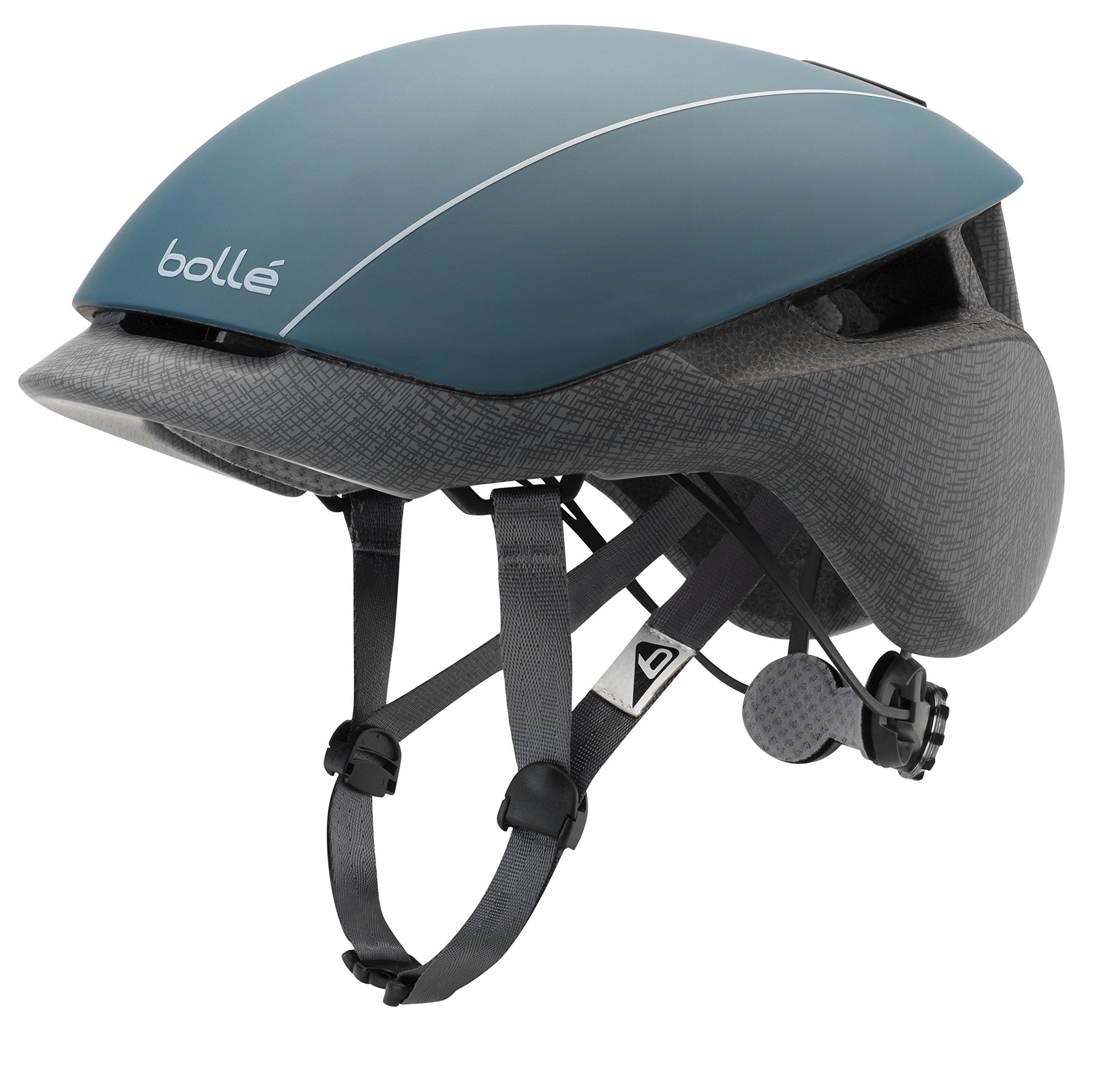bollé Erwachsene Messenger Standard Cycling Helmets, Petrol Grey Matte, Medium