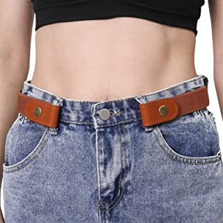 Buckle Free Elastic Women Belts for Jeans - Comfortable Invisible No Buckle Belt for Pants
