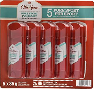 Old Spice High Endurance Deodorant, Pure Sport, Pack of 5
