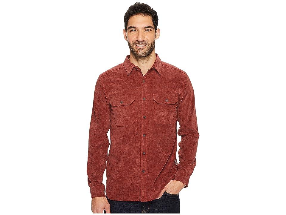 Royal Robbins Grid Cord Long Sleeve Shirt (Red Rock) Men
