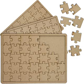 Bright Creations Blank Unfinished Wood DIY Jigsaw Puzzle (3 Pack)
