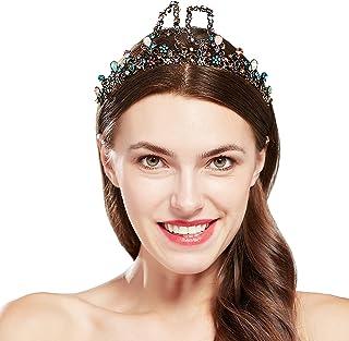 Coucoland - Corona di compleanno con pietre preziose colorate, da donna, ragazza, compleanno, diadema principessa, diadema...