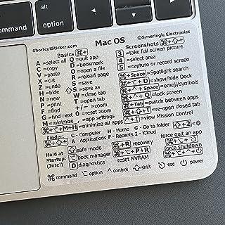 SYNERLOGIC Mac OS (Big Sur/Catalina/Mojave) Keyboard Shortcuts, Clear Vinyl Sticker, Long-lasting No-residue Adhesive, com...