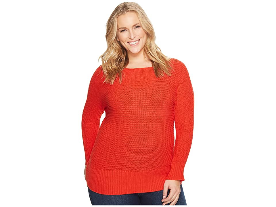 Lucky Brand Plus Size Off Shoulder Sweater (Spicy Red) Women