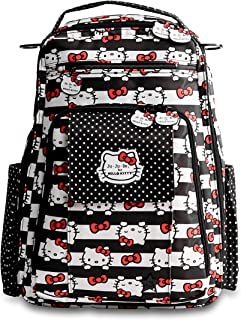 Ju-Ju-Be Be Right Back Backpack Diaper Bag, Hello Kitty Dots and Stripes