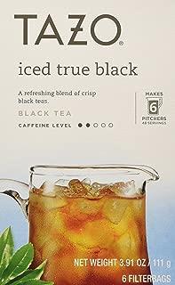 Tazo Iced True Black Filtered Tea - 6 Bags Per Box (Pack of 4) 3.91 oz