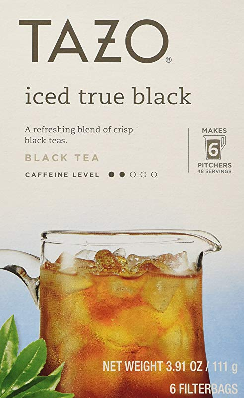 Tazo Iced True Black Filtered Tea 6 Bags Per Box Pack Of 4 3 91 Oz