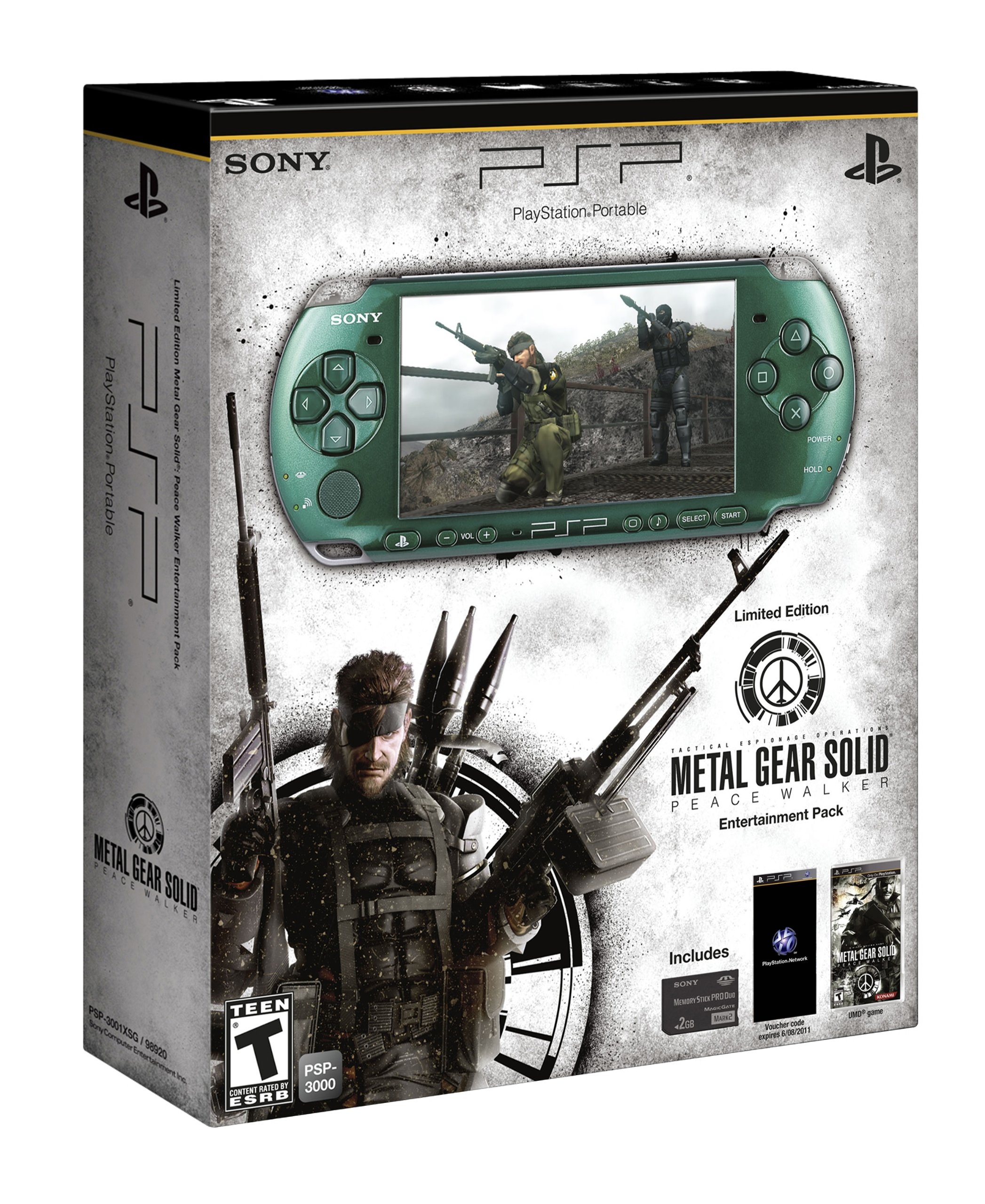 Sony PSP Metal Gear Solid Entertainment Pack - juegos de PC (AVCHD, H.264, MPEG4, MP3, PCM, JPG, PSP CPU, MS Duo, 2 GB) Verde: Amazon.es: Videojuegos