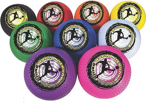 Champion Sports Rhino Welt 25,4  Kickball Set beinhaltet jeWeiß in rot, Orange, gelb, Grün, blau, lila, Rosa, SchwarzWeiß