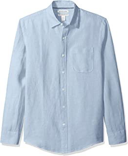 Amazon Essentials Men's Slim-Fit Long-Sleeve Linen Shirt