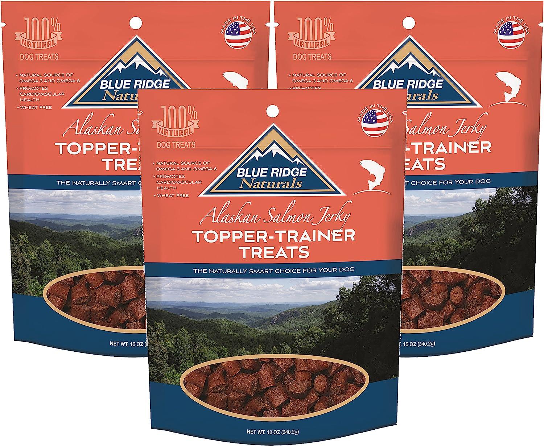 (3 Pack) bluee Ridge Naturals TopperTrainer Treats  Salmon 12 oz