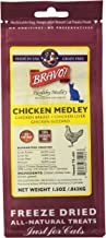 Bravo! Healthy Medley Chicken Medley Freeze-Dried Cat Treats, 1.5-Ounce Per Pack