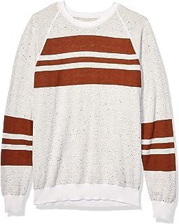 Billy Reid Men's Reversible Cotton Silk Long Sleeve Crew Neck Sweater