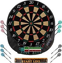 Ultrasport Elektrisch dartbord, met en zonder deuren, dartautomaat voor maximaal 16 spelers, inclusief werplijn, 12 dartpi...