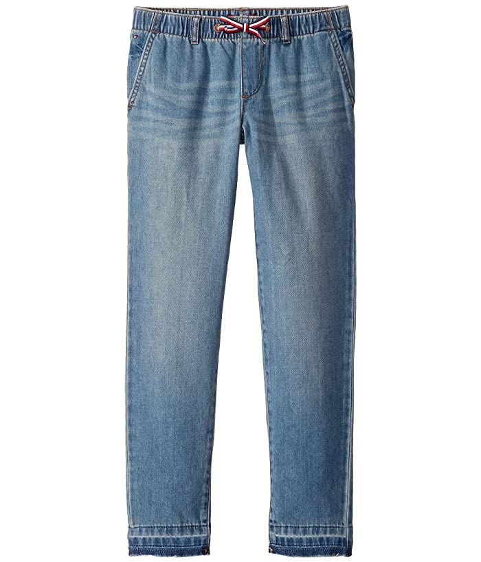 Tommy Hilfiger Adaptive  Relaxed Skinny Jeans in Taiyaki Wash (Toddler/Little Kids/Big Kids) (Taiyaki Wash) Womens Jeans