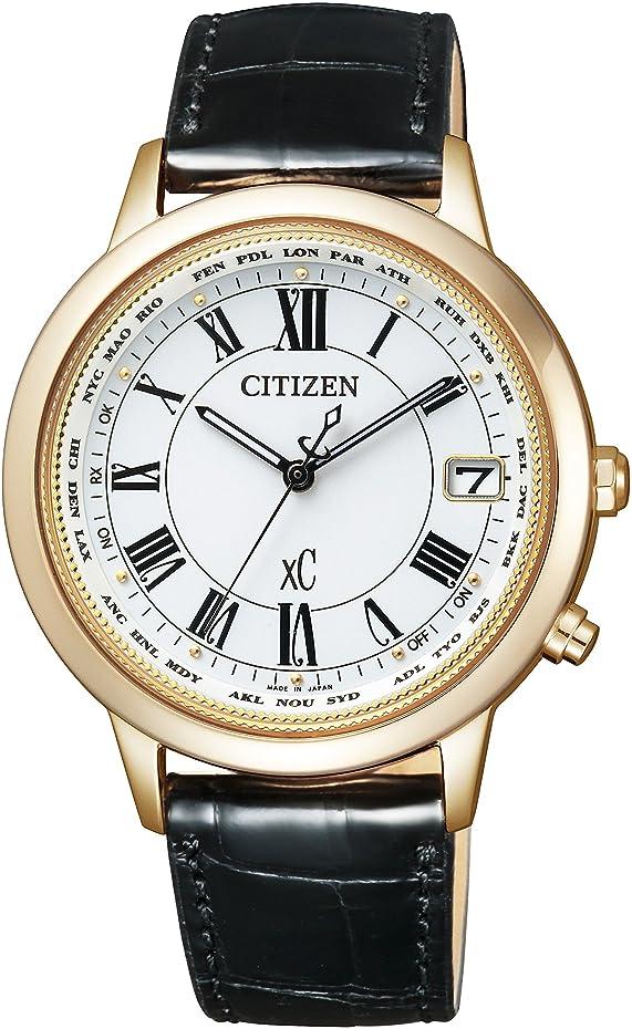 曲げる人事批判的に[シチズン]CITIZEN 腕時計 xC クロスシー エコ?ドライブ電波時計 ティタニアライン ハッピーフライトシリーズ CB1103-08A レディース