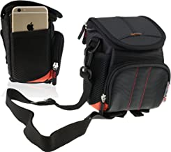 Navitech Black Digital Camera/Compact DSLR Case Bag Compatible with The Polaroid IS624 / iS827 / iE090 / i326