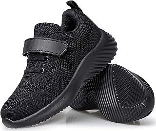 Wonvatu Toddler Little Kid Sneakers Boys Girls Cute Strap Walking Athletic Running Shoes Sports