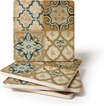 Villa Umbra Coasters for Drinks, - Set of 4 - Helps Protect Furniture - Absorbent Drink Coasters