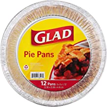 Glad BB11987 Disposable Pie Pans, 12 Count, Foil