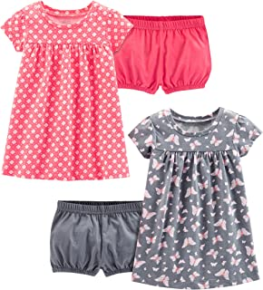 Simple Joys by Carter's 2-Pack Short-Sleeve and Sleeveless Dress Sets Niñas, Pack de 2