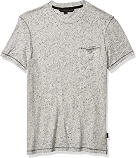 John Varvatos Star USA Men's Asheville Ss Neppy Crew W Pickstitch and Pocket