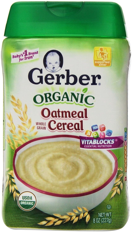 Gerber Baby Cereal free Organic Oatmeal Ounce 8 Choice