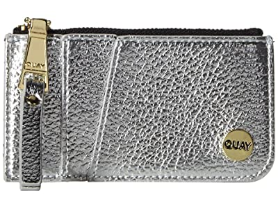 QUAY AUSTRALIA Top Zip Wallet (Silver/Gold) Handbags