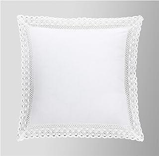 Duffi Home Funda cojín, Blanco, 50 x 70 cm