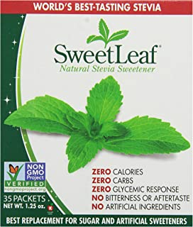 SweetLeaf Natural Stevia Sweetener, 35 Packets (Pack of 4)