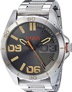 BOSS Orange Men's Berlin Quartz Watch with Stainless-Steel Strap, Silver, 24.2 (Model: 1513317)