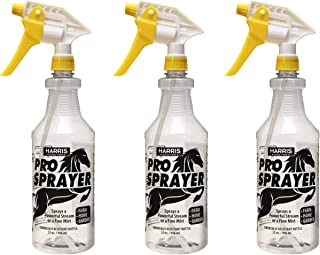 Harris Professional Spray Bottle for Horses 32oz (3-Pack), Chemically Resistant with Clear Finish, High Output-Pressurized Sprayer, Adjustable Nozzle and Measurements