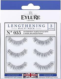 (Multi Pack- 3 Pairs) Eylure Lenghtening #035 False Eyelashes, Black