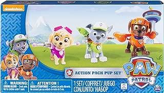 Paw Patrol Action Pack Pups Figure Set, 3pk, Skye, Zuma, Rocky