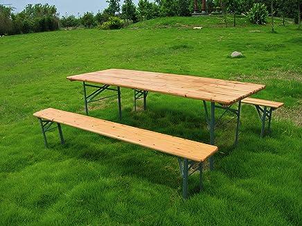 Amazon.it: tavolo con panche in legno: Casa e cucina