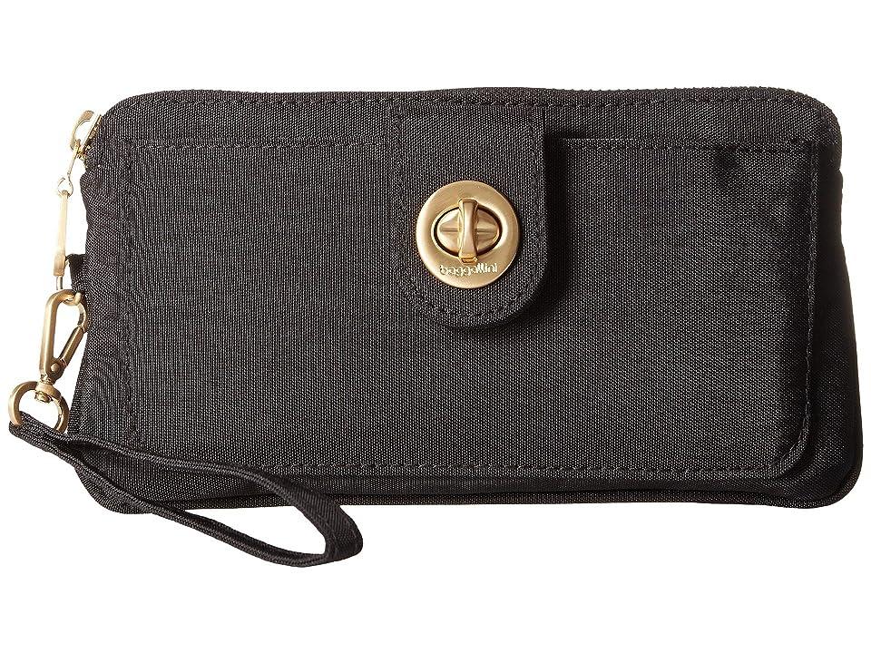 Baggallini Gold Lisbon RFID Wristlet (Black) Wristlet Handbags