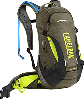 CamelBak M.U.L.E. Low Rider Protector 15 Bike 3L Backpacks, Burnt Olive/Lime Punch, One Size