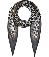 Marc Jacobs - Animal Print & Chains Diamond Stole
