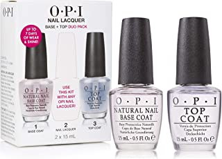 OPI Nail Lacuqer Top Coat and Base Coat DUO Set Clear